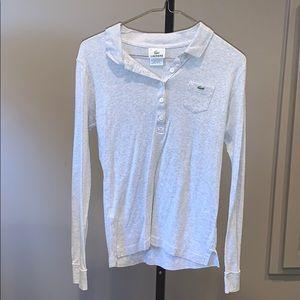 Gray long sleeve Lacoste shirt